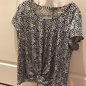 Adrianna Papell XL knot front blouse